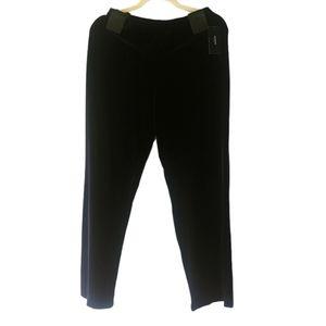 Alfani Petite Deep Black Wide-Leg Velvet Pants